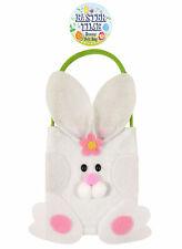 Easter Bunny Felt Bag - 18cm x 14cm - Toy Loot/Party bag Rabbit Egg Hunt