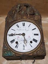 Ancien Mouvement Pendule Horloge Contoise Cloche balancier singler bar sur aube