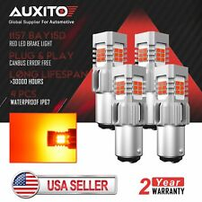 AUXITO 1157 BAY15D Red 24SMD LED Brake Tail Stop Light Indicator Bulbs Canbus