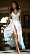 Sexy Womens Lingerie Lace Bride Wedding Long Dress Babydoll Nightwear Sleepwear