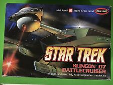 POLAR LIGHTS 1/1000 STAR TREK KLINGON D7 BATTLECRUISER SNAP PLASTIC MODEL 820 FS