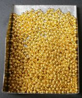 Large round crimp beads White Gold pl 3x2mm crimp beads 500 pcs 4 beading FPS018