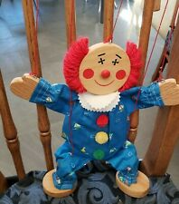 Hand Made Wooden Clown Marionette Wooden 14 Inches