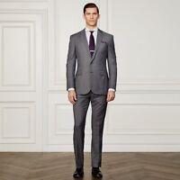 Ralph Lauren Purple Label Anthony 2 Button Notch Lapel Houndstooth Wool Suit 38R
