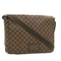 LOUIS VUITTON Damier Ebene Brooklyn GM Shoulder Bag N51212 LV Auth 19130