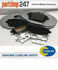 GENUINE COMLINE FORD FIESTA MK7 FRONT BRAKE COATED DISCS & PAD SET 2007-2017