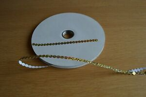 Gold Self Adhesive Sequins 10 metres from the reel