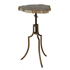 "Side Table w/ Petrified Wood Top 14x13x26"" - 40253"