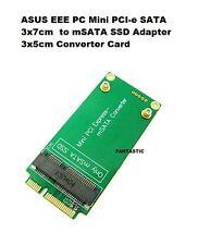 Nueva Asus Eee PC 3x7cm Mini PCI-E SATA a 3x5cm Convertidor Adaptador SSD de MSATA TARJETA