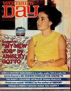 Woman's Day Australia March 14, 1972 - Rare 1970s Vintage Women's Magazine