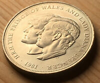 Commemorative 1981 Coin The Prince of Wales Lady Diana Spencer Charles Royal