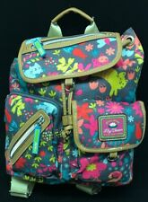 Lily Bloom PLAYFUL GARDEN Riley Floral Cat Backpack Full Size Bag NWT