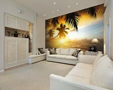 3D Sunset Coconut Tree 17727Na Wallpaper Wall Murals Removable Wallpaper Fay