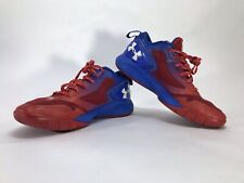 Under Armour Clutchfit Mens 9 Low Rise Basketball Shoes Red White Blue 1264221