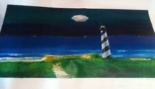 """""""The Lighthouse""""  Acrylic Painting by  Roland Roy"""