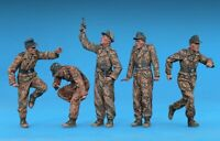 1/35 Resin WWII German Tank Crew 5 in Fight unpainted unassembled FY045