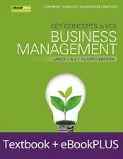 Key Concepts in VCE Business Management Units 1&2 4E eBookPLUS & Print + StudyOn