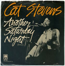 """CAT STEVENS Another Saturday Night/Home In The Sky 7"""" 1974 A&M VG+ in VG ps"""