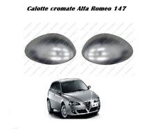 COPPIA CALOTTE CROMATE ALFA ROMEO 147 GT SX+DX LUCIDE SPECCHIETTO 2000 > 2010