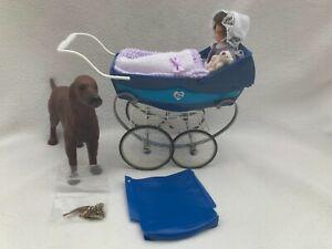 Sindy Walk in the Park, Pram, Dog, Baby and all original accessories VGC
