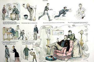 Signs of Christmas Season 1891 PEOPLE ACTING NICE Children Wife Employees Waiter
