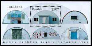 Iceland 2003 Stamp Day, WWII Quonset Huts, Mini Sheet MNH / UNM
