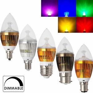 Dimmable 6W 8W 10W LED Chandelier Bulbs E12 E14 E27 Candle Light White Lamps GD