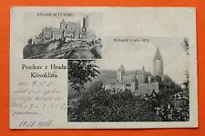 Tschechien CZ AK Pozdrav z Hradu Krivoklatu Křivoklát 1916 17.stoleti 1913 +++