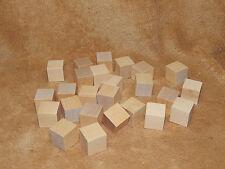 "Unfinished Hard Wood Wooden 1"" X 1"" Memory Cubes Craft Block Blocks Lot 25 USA"