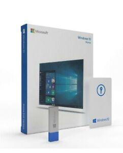Microsoft Windows 10 Home 32/64 Bit Genuine Retail Product Key w/ USB #AZG