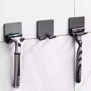 2 Pcs Razor Holder Storage Hook Wall Bathroom Razor Rack Wall Accessories