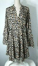 Umgee Women Flare Mini Dress or Long Blouse Size XL Animal Print Relaxed *S432