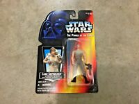 Vintage 1995 Star Wars POTF Luke Skywalker in DAGOBAH Fatigues, red card