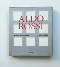 ALDO ROSSI Opera completa 1959-1987 Electa 1996 Sottsass Zanuso Superstudio