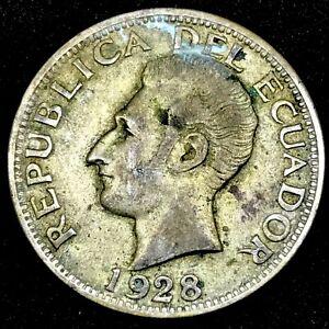 Ecuador-2 Sucres-1928 - KM-73 - Toned- High Grade -  Original Surfaces #2