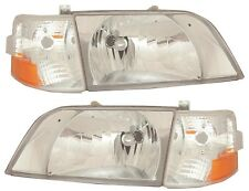 1998-2011 VOLVO VN VNL VNM Series Daycab Headlights Clear Lens Corner Lamps SET