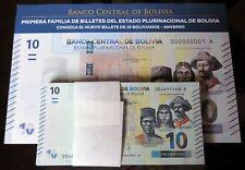 B-D-M Bolivia 10 Bolivianos 2018 Pick New design SC UNC