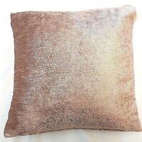 "ROSE GOLD PINK  GLITTERY SPARKLES 18"" THICK VELVET CUSHION COVERS £7.99 EACH"