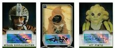 Star Wars lot of 3 autograph cards by Topps