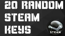 LOT OF 20 RANDOM STEAM KEYS (PC GAMES) 24 HOUR DELIVERY WORLDWIDE NO DUPLICATES