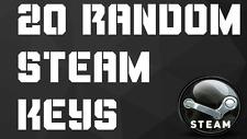 LOT OF 20 RANDOM STEAM KEYS (PC GAMES) 24 HOUR DELIVERY WORLDWIDE NO DUPLICATES
