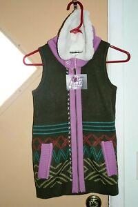 Matilda Jane Make Believe Big Idea Sweater Knit Vest Full Zip Girls Sz 8 NWT