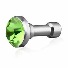 Tapon Antipolvo de Jack 3.5 VERDE CLARO para Apple Iphone 3, 4, 4s, 5, 5s, 5c