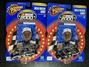 Lot of 2 Hasbro Winner's Circle Dale Earnhardt 2000 1:64 Diecast Cars - Sealed