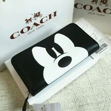 New Coach x Disney Mickey Mouse Anger Long Wallet Black From Japan w/tracking