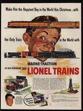 1950 LIONEL MODEL TRAINS - Happiest Boy This Christmas - VINTAGE ADVERTISEMENT