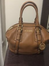 New MICHAEL KORS Bedford Belted MEDIUM Pebble Leather Satchel $398 ACORN