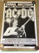 Rare Large Format Vintage Original Netherlands Ac/Dc Playbill 1986