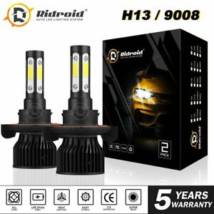 4-Sides H13 9008 LED Headlight Bulb for Ford F-150 2004-2014 High Low Beam 6000K