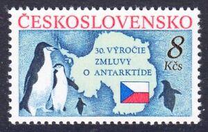 CSSR 3086 , postfrisch / ** / Pinguine , Antarktis Vertrag